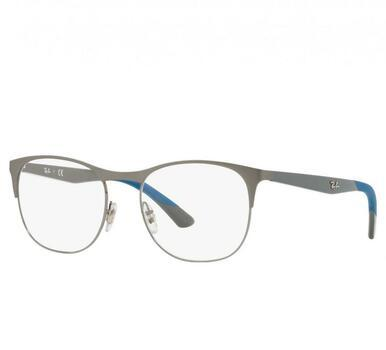 Ray-Ban RB6412 2620 Gunmetal Grey Full Rim Square Metal Optical Frames