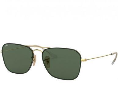 Ray-Ban RB3603-001/71 Gold Square Green Classic Metal Sunglasses Frames