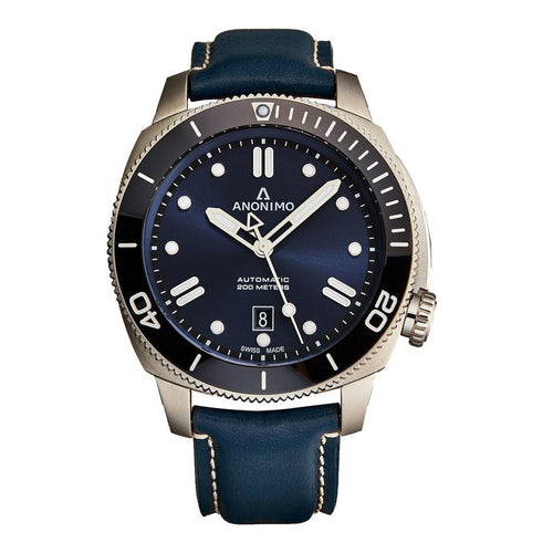 Anonimo AM100209006A03 Nautilo Blue Men's Blue Leather Automatic Watch