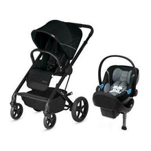 Load image into Gallery viewer, CYBEX Balios S Lux Stroller and Aton 2 Car Seat Sensor Safe and Travel System - Deep Black