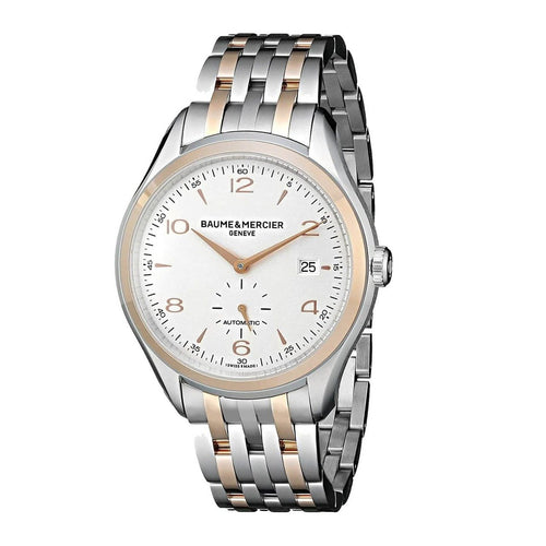 Baume & Mercier 10140 Clifton Two Tone Stainless Steel Silver Dial Men's Automatic Watch 7613268285350