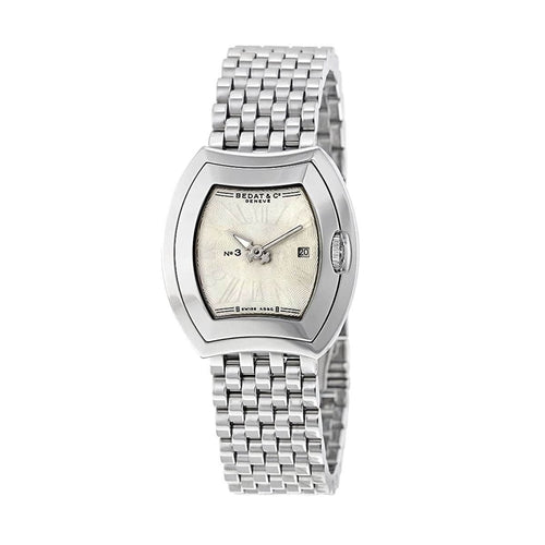 Bedat & Co. 334.011.100 No. 3 Stainless Steel Silver Dial Women's Quartz Watch 842047103371