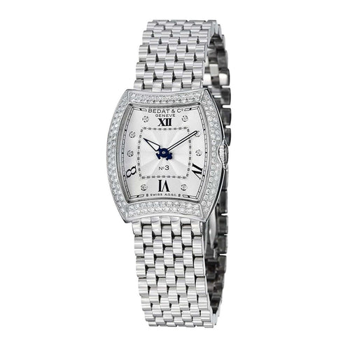 Bedat & Co. 316.031.109 No. 3 Silver Dial Diamond Accent Women's Stainless Watch