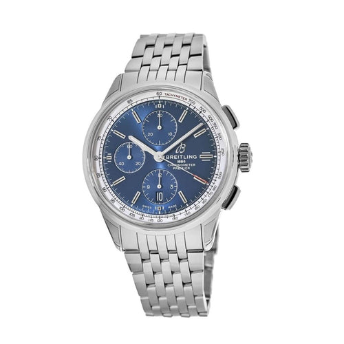 Breitling A13315351C1A1 Premier Stainless Steel Blue Dial Men's Chronograph Automatic Watch 700533255051