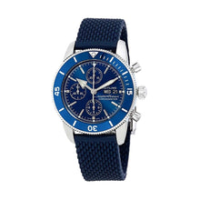 Load image into Gallery viewer, Breitling A13313161C1S1 Superocean Heritage II Blue Dial Aero Classic Rubber Chronograph Watch 842047147948