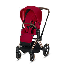 Load image into Gallery viewer, CYBEX Priam 3-in-1 Travel System Rose Gold with Brown Details Baby Stroller – True Red 519003315 4058511701400