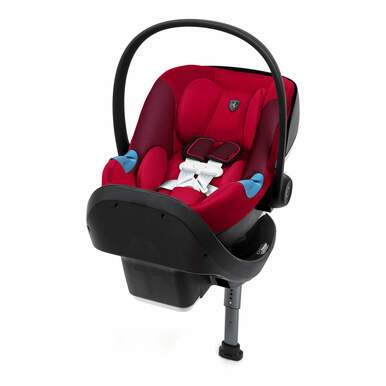 Cybex Scruderia Ferrari Aton M Infant Car Seat With SafeLock Base -  Racing Red