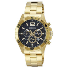 Load image into Gallery viewer, Citizen AN8122-51E Gold Tone Black Dial Men's Chronograph Watch 4974374252371
