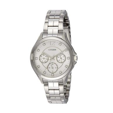 Citizen ED8140-57A Silver Stainless Steel White Dial Women's Multi-Function Watch