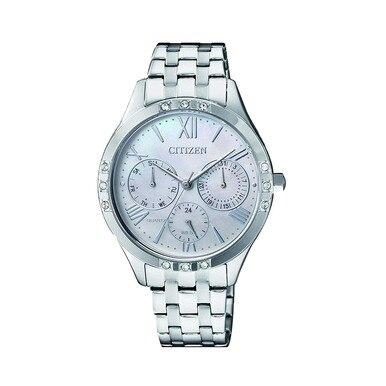 Citizen ED8170-56D Stainless Steel Mother of Pearl Dial Multi-Function Watch