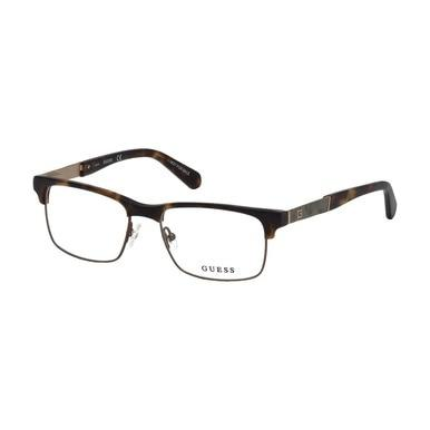 Guess GU-1927-052 Dark Havana Rectangular Men's Acetate Eyeglasses