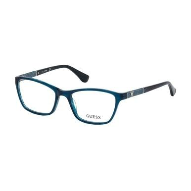 Guess GU-2594-087 Shiny Turquoise Square Women's Acetate Eyeglasses