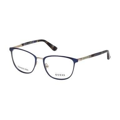 Guess GU-2659-091 Matte Blue Square Women's Metal Eyeglasses
