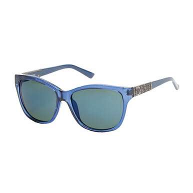 Guess GU7417-90X Blue Square Mirrored Blue Lens Women's Sunglasses