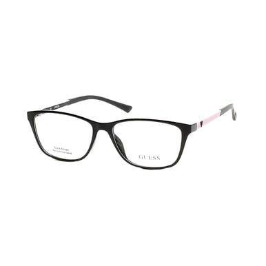 Guess GU-2497-001 Black Square Women's Injected Eyeglasses