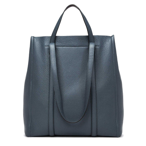 Marc Jacobs The Oversized Tag Tote Nightshade Grey - Ladies Leather Bag M0014493-067 191267530109