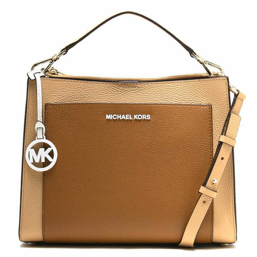 Michael Kors Gemma Medium Pocket Top Handle Ladies Satchel Shoulder Bag - Acorn Butternut Beige 192877509875