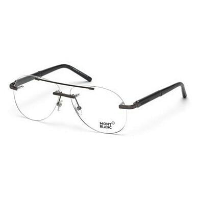 Montblanc MB446-016 Black Rimless Men's Aviator Eyeglasses Frames