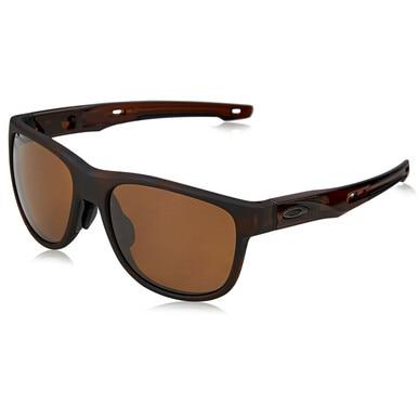 Oakley OO9369-06 Crossrange Matte Rootbeer Brown Square Prizm Tungsten Polarized Lens Sunglasses