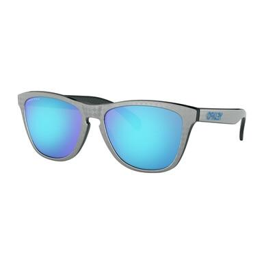 Oakley OO9245-5954 Frogskins Checkbox Collection Silver Square Prizm Sapphire Lens Sunglasses