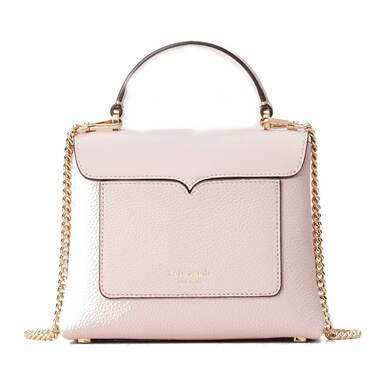 Kate Spade Women's Romy Satchel Tutu Pink Smooth Pebbled Leather Bag