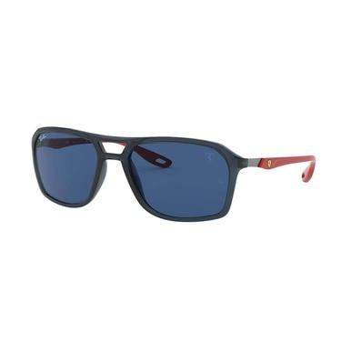 Ray-Ban RB4329M-F63580 Scuderia Ferrari Blue Red Square Dark Blue Classic Lens Sunglasses