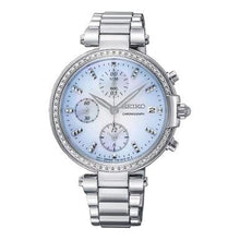 Load image into Gallery viewer, Seiko SNDV39 Crystal Accent Mother of Pearl Dial Women's Chronograph Watch