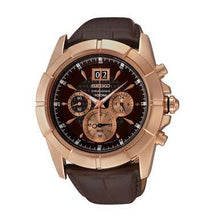 Load image into Gallery viewer, Seiko SPC114 Lord Brown Dial Men's Brown Leather Chronograph Watch