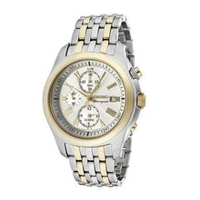 Load image into Gallery viewer, Seiko SNAE32 Classic Two Tone Stainless Steel Silver Dial Men's Chronograph Watch