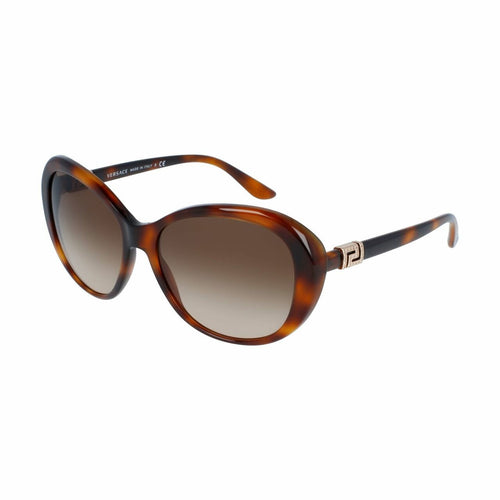 Versace VE4324-521713 Havana Cat-Eye Plastic Gradient Brown Lens Women's Sunglasses 8053672645620