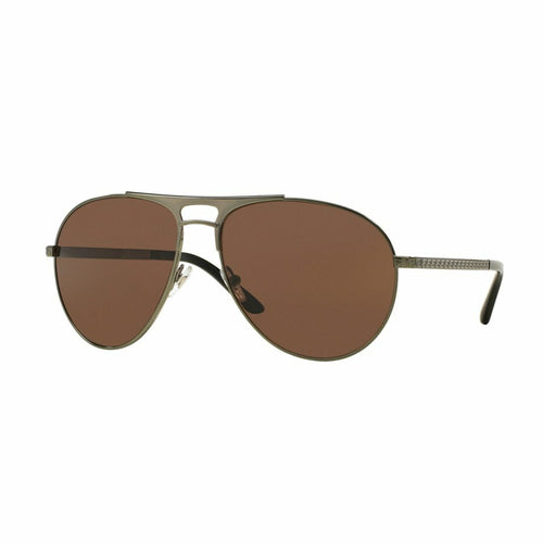 Versace VE2164-1240/73 Green Aviator Brown Lens Men's Metal Sunglasses 8053672464979