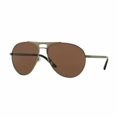 Versace VE2164-1240/73 Green Aviator Brown Lens Men's Metal Sunglasses