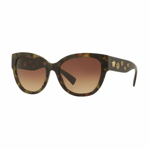 Versace VE4314-5183/13 Military Havana Cat Eye Plastic Gradient Brown Lens Women's Sunglasses 8053672584639