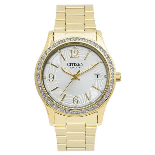 Citizen EV0042-53A Quartz Gold Stainless Steel Grey Dial Ladies Watch 0013205103667