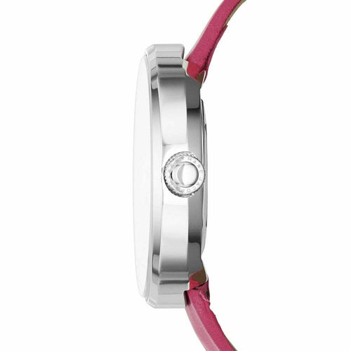 Marc Jacobs MBM1363 Peggy Pink Leather Women's Quartz Strap Watch 796483178878