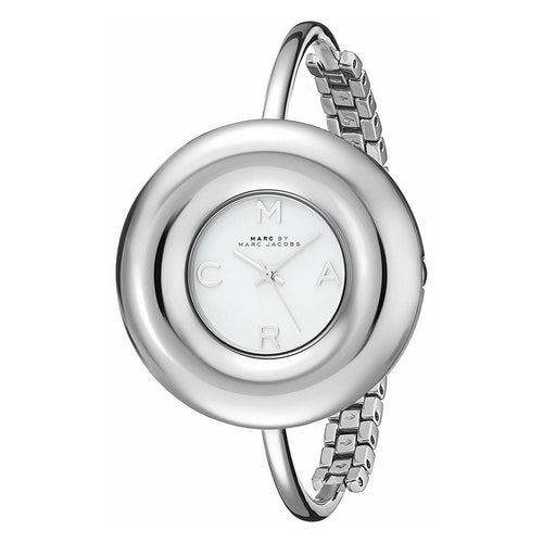 Marc Jacobs MBM3395 Donut Gloss White Dial Women's Stainless Steel Bangle Watch 796483179004