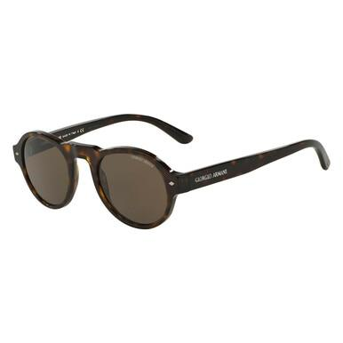 Giorgio Armani AR8053 502653 Tortoise Round Rull Rim Sunglasses for Men