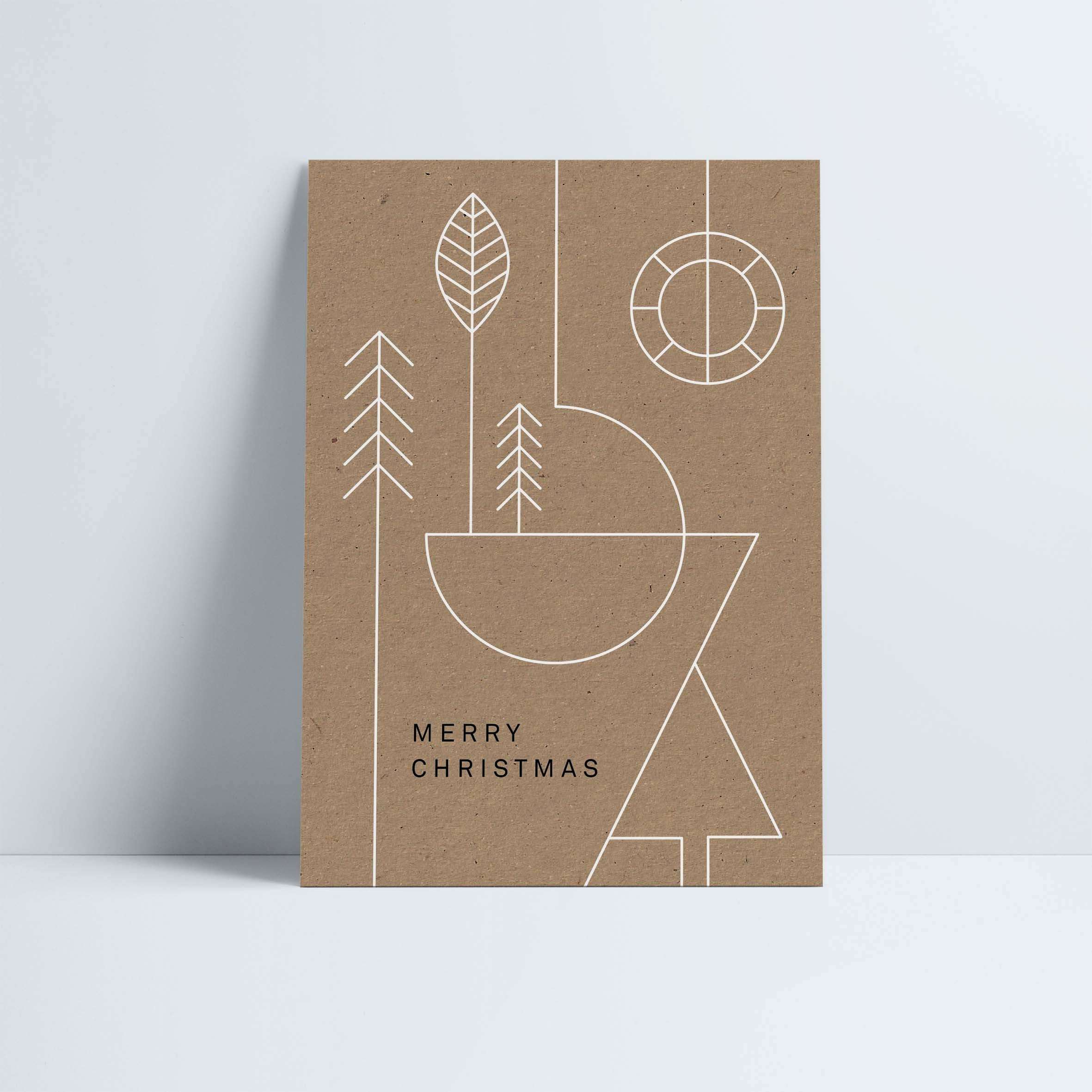 Postkarte // »Merry Christmas« Geometric