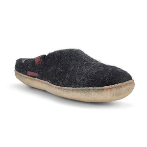 Classic Slipper - Black with Rubber