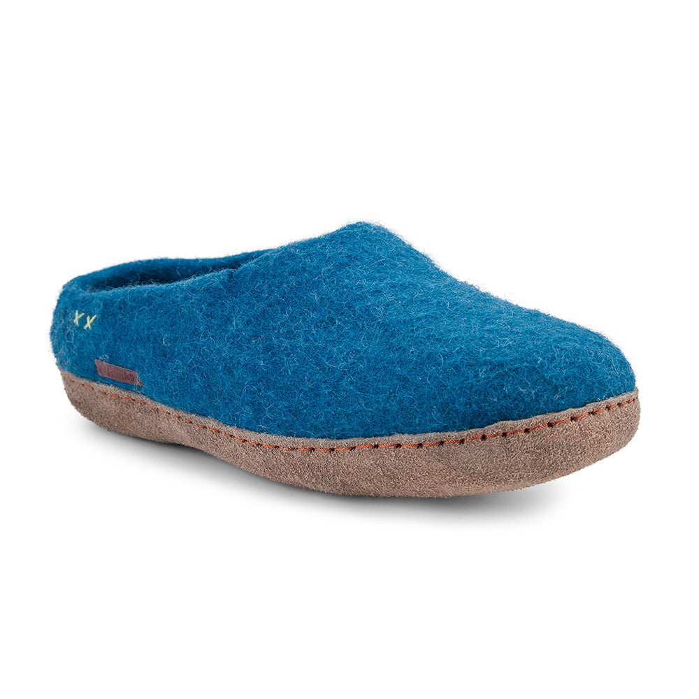 Classic Slipper - Steel Blue with Leather
