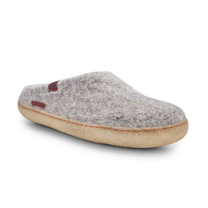 Classic Slipper - Grey with Rubber