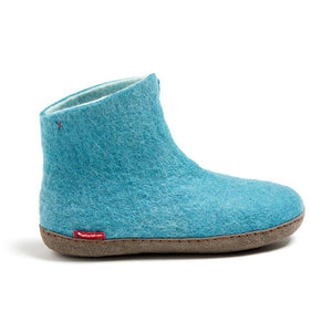 High Boot - Light Blue with Leather