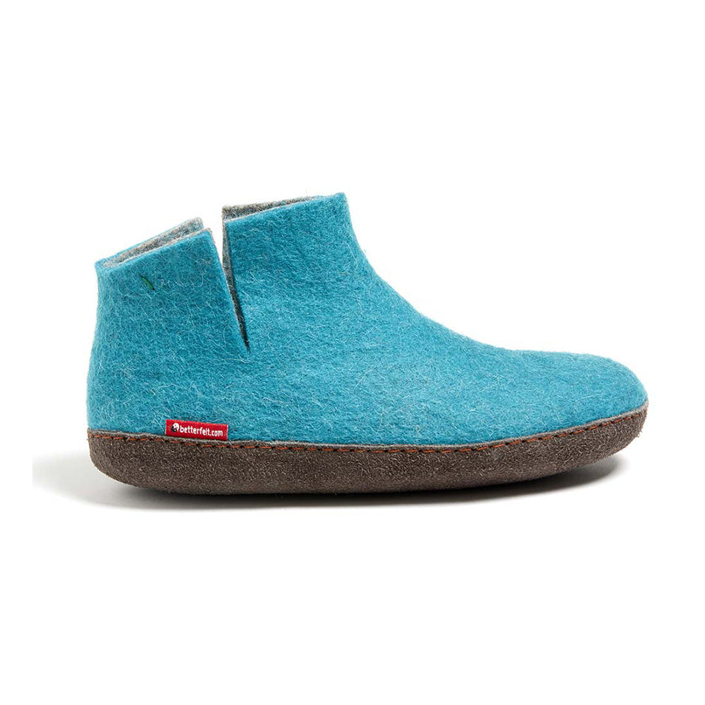 Classic Boot - Light Blue with Leather