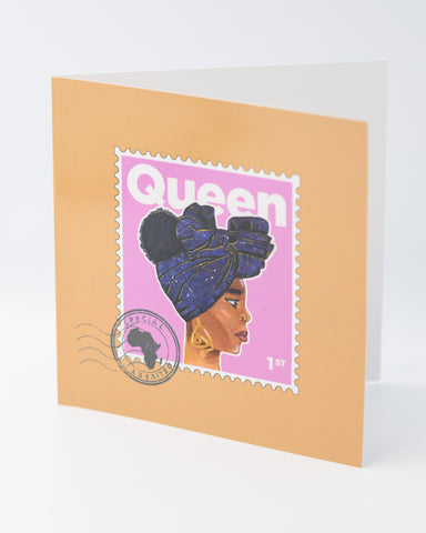 Queen Greetings Card -Pink