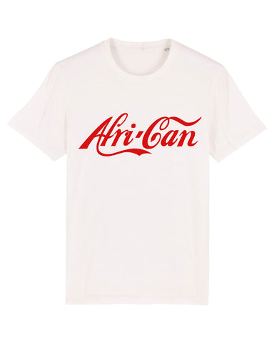 """Afri-Can"" Organic Cotton T-Shirt - White / Red"