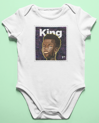 organic cotton baby grow -King design