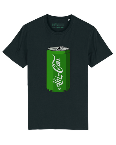 """Afri-Can"" (Soda) T-Shirt - Black - Medium"