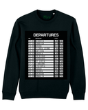 """Departures - 15 Nations"" Black  Organic Cotton Sweatshirt"