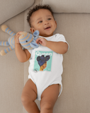 """Queen Baby"" Organic Cotton Bodysuit - Mint"