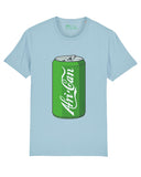 """Afri-Can"" (Soda) Organic Cotton T-Shirt - Sky Blue"